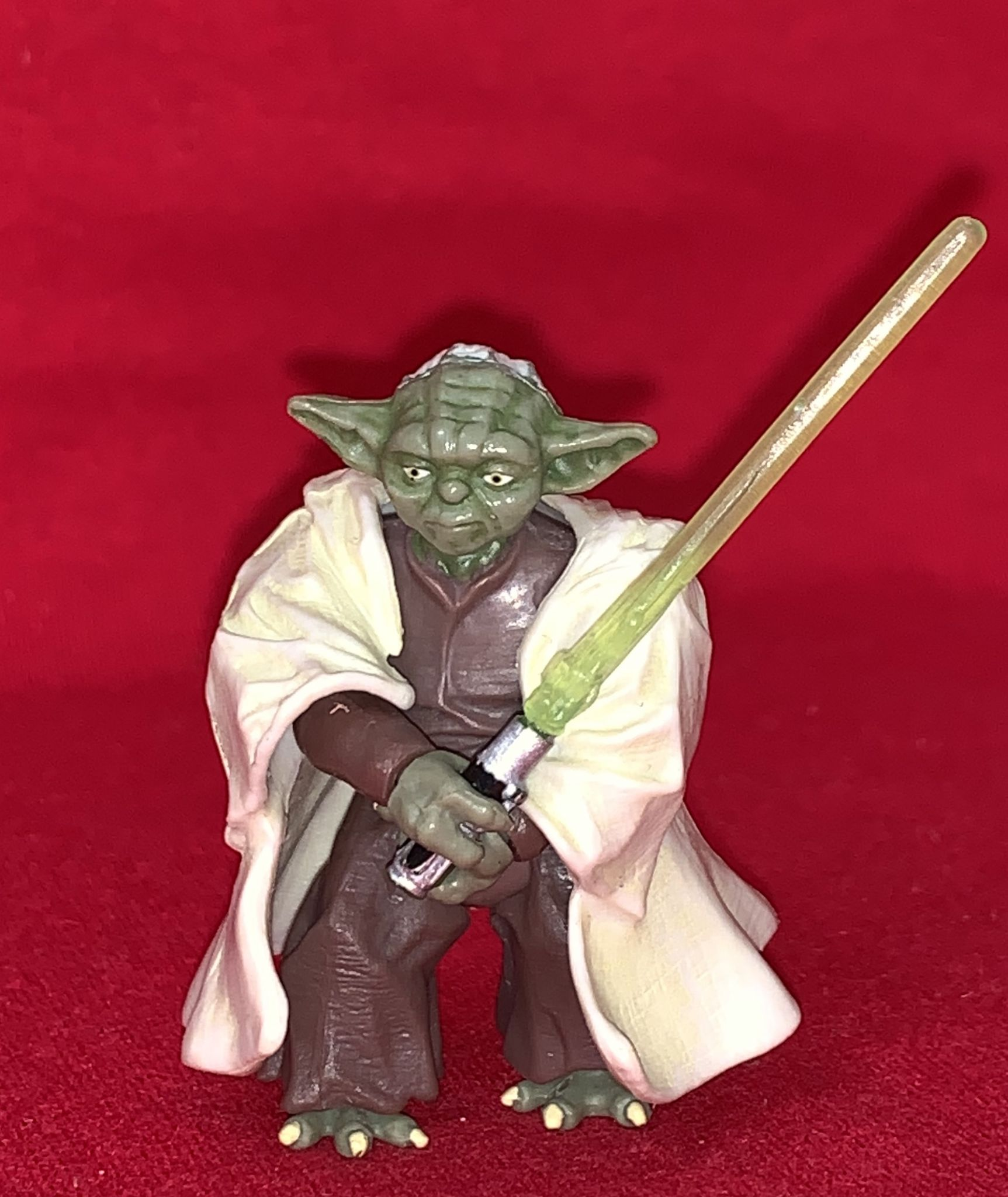 Star Wars Revenge Of The Sith Yoda Complete Loose Action Figure